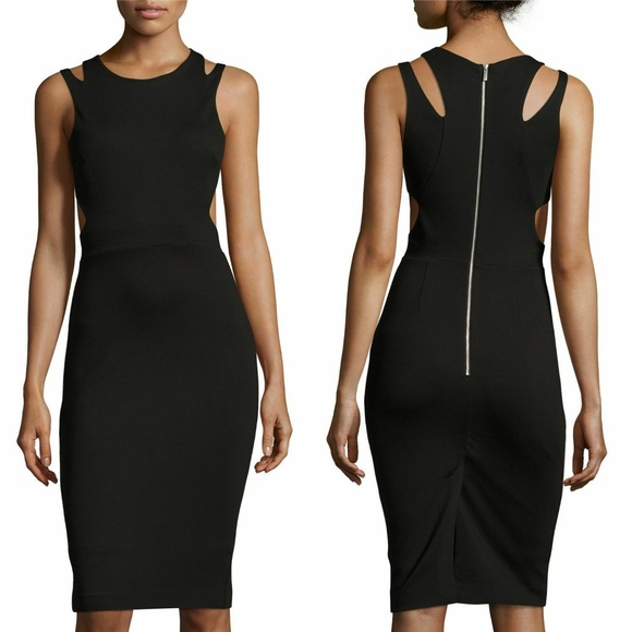 French Connection Dresses & Skirts - French Connection Black Lula Stretch Cut Out Dress